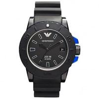 Buy Armani Watches  Emporio Armani Sportivo Watches AR5966 Men's Black Silicone Watch online