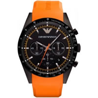 Buy Armani Watches AR5987 Mens Chronograph Silicone Watch online