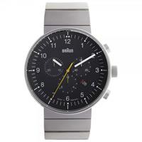 Buy Braun Watches Silver Stainless Steel Mens Watch BN0095BKSLBTG online
