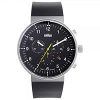 Buy Braun Watches Black Rubber Mens Watch BN0095BKSLBKG online