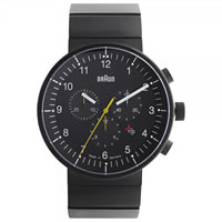 Buy Braun Watches Black Stainless Steel Mens Watch BN0095BKBKBTG online