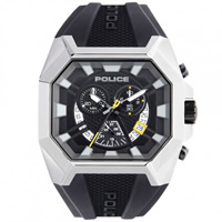 Buy Police Watches PL13837JSU-02 Police Mens Black Hunter Chronograph Watch online