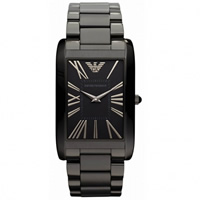 Buy Armani Watches Classic Black ION Womans Watch AR2064 online