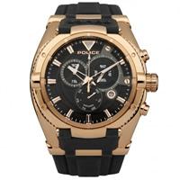 Buy Police Watches PL13092JSR-02 Police Mens Raptor Black & Rose Gold Watch online