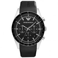 Buy Armani Watches AR5985 Mens Black Chronograph Watch online