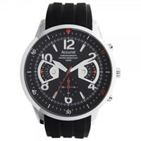 Buy Accurist Watches Silicone Gents Chronograph Watch MS920BB online