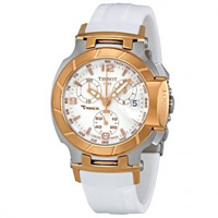 Buy Tissot Watches T048.217.27.017.00 White Chronograph Ladies Watch online