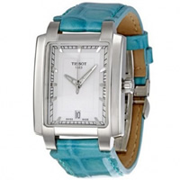 Buy Tissot Watches T061.310.16.031.02 Turquoise Leather Ladies Tissot Watch online