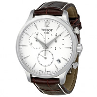 Buy Tissot Watches T063.617.16.037.00 Brown Leather Mens Chronograph Watch online