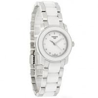 Buy Tissot Watches T064.210.22.016.00 White Ceramic & Stainless Steel Ladies Watch online