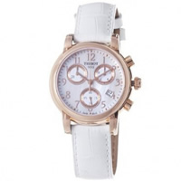 Buy Tissot Watches T050.217.36.112.00 White & Gold Chronograph Ladies Watch online