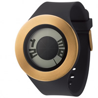 Buy Michael Young Watches MY04-04 Michael Young Mens Sunstitch Black & Gold Watch online