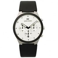 Buy Danish Design Q12Q 885 Mens Black leather Chronograph Watch online