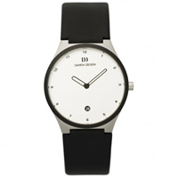 Buy Danish Design V12Q 884 Mens Black Leather Watch online