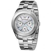 Buy Armani Watches AR0709 Classic Stainless Steel Womans Chronograph Watch online