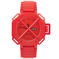 "Buy JCDC Watches TT01-3 Unisex ""Time Track"" Red Watch online"