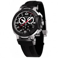 Buy Tissot Watches T048.417.27.057.00 Black Chronograph Mens Watch online
