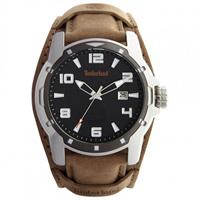 Buy Timberland Watches 133866JSTU-02 Durham Mens Beige Genuine Leather Cuff Watch online