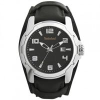 Buy Timberland Watches 13866JS-02 Durham Mens Black Genuine Leather Cuff Watch online