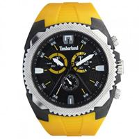 Buy Timberland Watches 13851JPBS-02 Bridgton Mens Yellow Rubber Chronograph Watch online