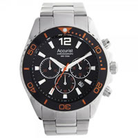 Buy Accurist Watches Silver Gents Chronograph Watch MB946BO online