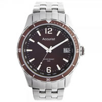 Buy Accurist Watches Silver Gents Watch MB923BR online