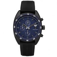 Buy Armani Watches AR5930 Mens Black Silicone Chronograph Sportivo Watch online