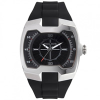 Buy Police Watches PL 13452JS-02 Police Mens Endeavor Black & Silver Watch online