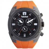 Buy Timberland Watches 13851JPGYB-02A Bridgton Mens Orange Rubber Chronograph Watch online