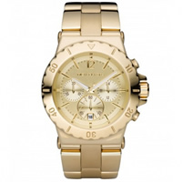Buy Michael Kors Watches Unisex Chronograph Gold Tone Ion Plated Watch MK5313 online