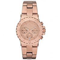 Buy Michael Kors Watches Ladies Chronograph Bronze PVD Rose Plated Watch MK5499 online