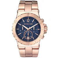 Buy Michael Kors Watches Ladies Chronograph PVD Rose Gold Watch MK5410 online