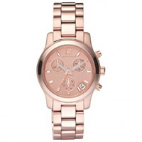 Buy Michael Kors Watches Ladies Chronograph Bronze PVD Rose Plated Watch MK5430 online