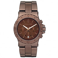 Buy Michael Kors Watches Ladies Chronograph Brown Stainless steel Watch MK5519 online