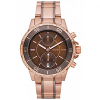 Buy Michael Kors Watches Ladies Chronograph Two Tone Rose Gold Stainless Steel Watch MK5553 online