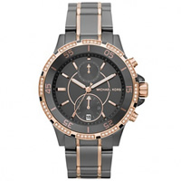 Buy Michael Kors Watches Ladies Chronograph Black & Rose Gold Stainless Steel Watch MK5554 online