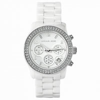 Buy Michael Kors Watches Ladies Chronograph White Ceramic Watch MK5188 online