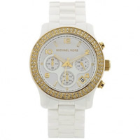 Buy Michael Kors Watches Ladies Chronograph White Ceramic Watch MK5237 online