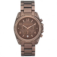 Buy Michael Kors Watches Ladies Chronograph Brown Stainless steel Watch MK5493 online