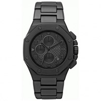 Buy Michael Kors Watches Mens Chronograph Black ION Plated Stainless Steel Watch MK8198 online