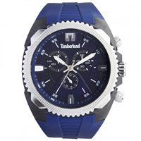 Buy Timberland Watches 13851JPBS-03 Bridgton Mens Blue Rubber Chronograph Watch online