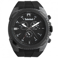 Buy Timberland Watches 13851JPGYB-02 Bridgton Mens Black Rubber Chronograph Watch online