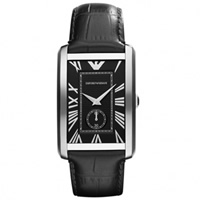Buy Armani Watches Black Leather Mens Watch AR1604 online