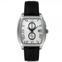 Buy Armani Watches Black Leather Mens Chronograph Watch AR0936 online