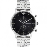 Buy Armani Watches Emporio Armani Gianni Watch AR0389 Mens Black Steel Watch online