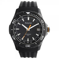 Buy Accurist Watches Black Silicone Gents Sports Watch MS861BB online