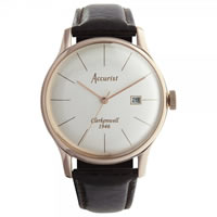 Buy Accurist Watches Brown Leather Gents Classic Watch MS648 online