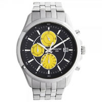 Buy Accurist Watches Silver Gents Chronograph Watch MB932BY online
