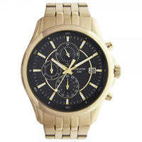 Buy Accurist Watches Gold-tone Gents Chronograph Watch MB933B online