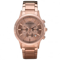 Buy Armani Watches AR2452 Mens Rose Gold Classic Watch online